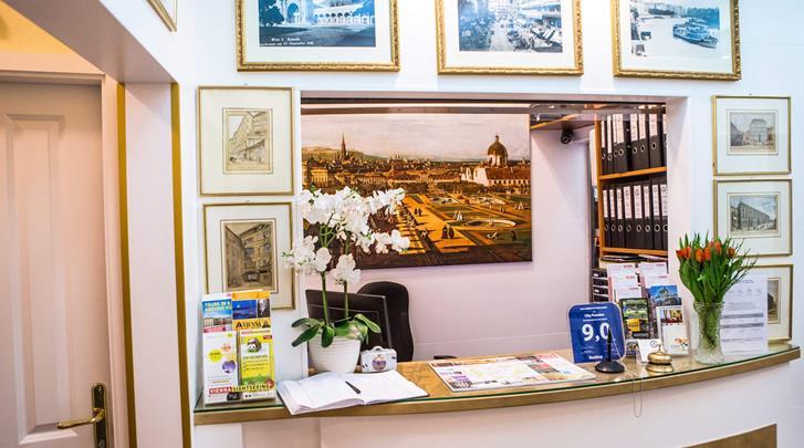 Wenen, Hotel City Pension Stephansplatz, Receptie