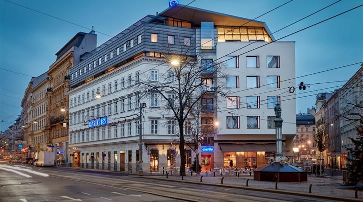 Wenen, Hotel Das Triest, Façade hotel