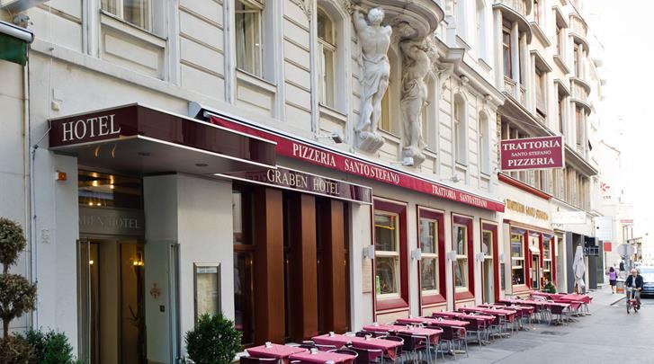 Wenen, Hotel Graben, Façade hotel