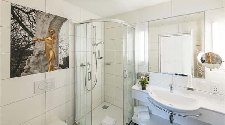 Wenen, Hotel Johann Strauss, Badkamer
