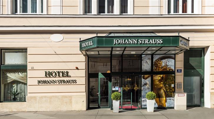 Wenen, Hotel Johann Strauss, Façade hotel