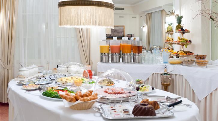 Wenen, Hotel Johann Strauss, Ontbijtbuffet