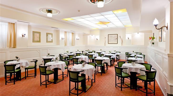Wenen, Hotel Johann Strauss, Ontbijtruimte