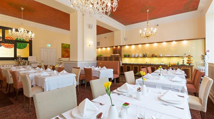 Wenen, Hotel Kaiserhof, Ontbijtrestaurant