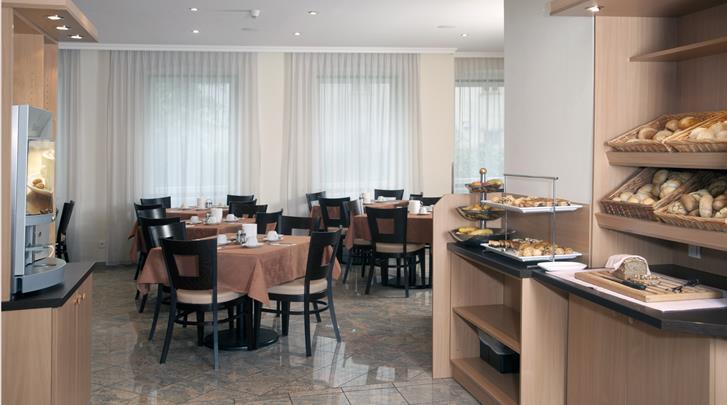 Wenen, Hotel Lucia, Ontbijtruimte