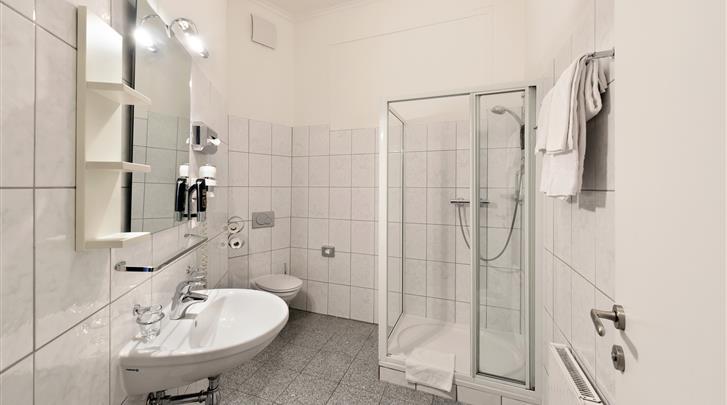 Wenen, Hotel Pension City Rooms, Badkamer
