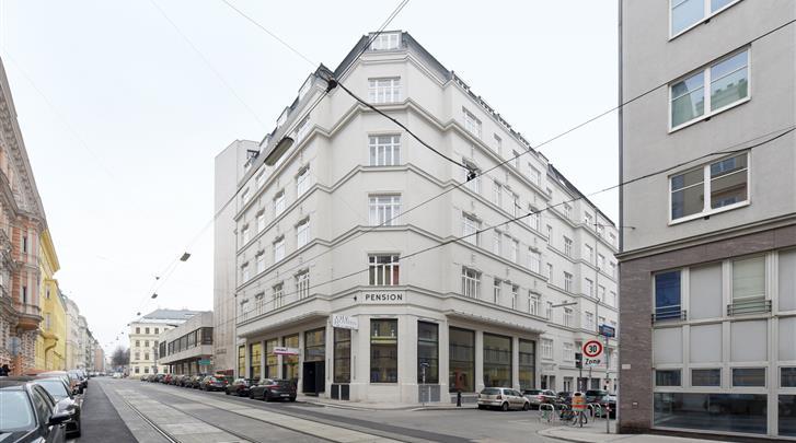 Wenen, Hotel Pension City Rooms, Façade hotel