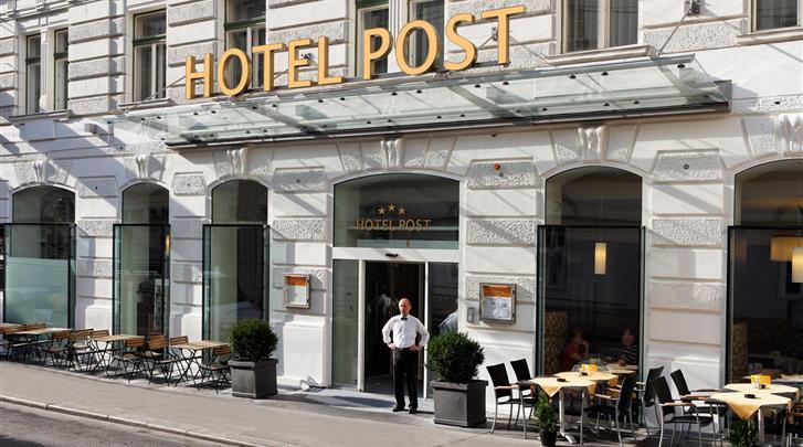 Wenen, Hotel Post, Façade hotel