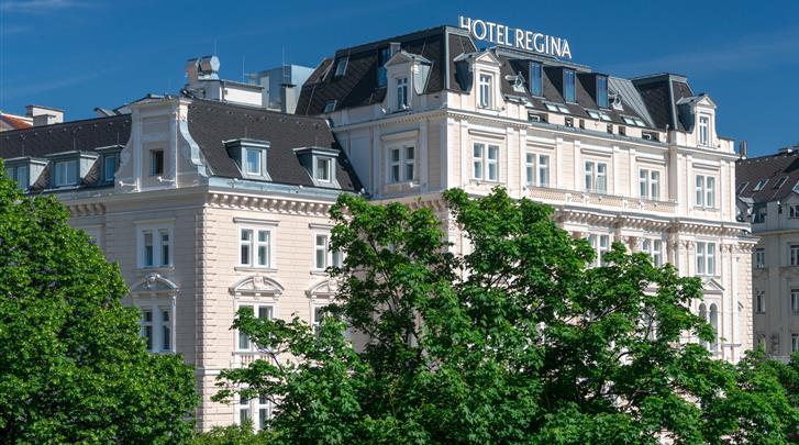 Wenen, Hotel Regina, Façade hotel